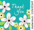 Vector Greeting Card template in teal green and white. Good for Birthday, Thank You, Sympathy, Baby Shower, Easter, Bridal Shower, Wedding, social media, web banner.  - stock vector