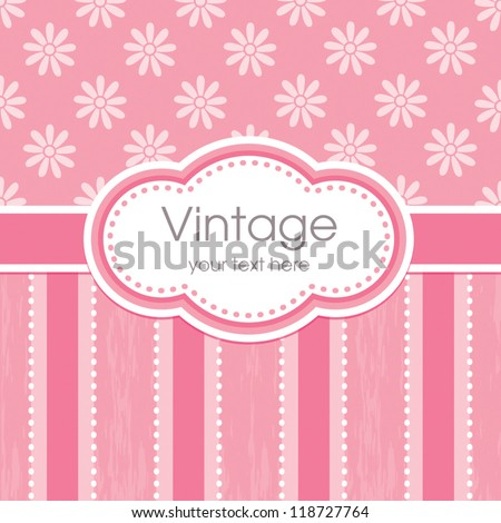 Vector Greeting Card Template Vintage Floral Vector – Dinner Card Template