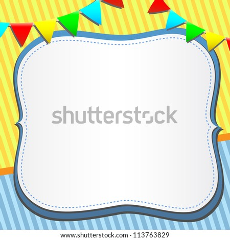 vector greeting card with frame - stock vector