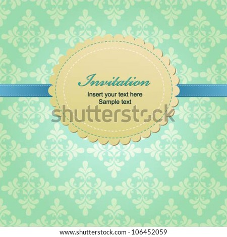 Vector greeting card with vintage elements