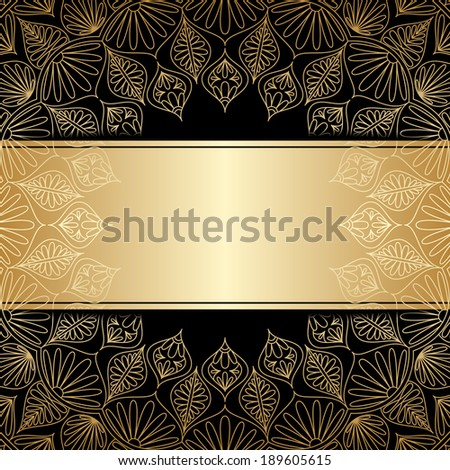 Vector greeting or invitation card with vintage lace floral pattern and place for text. - stock vector