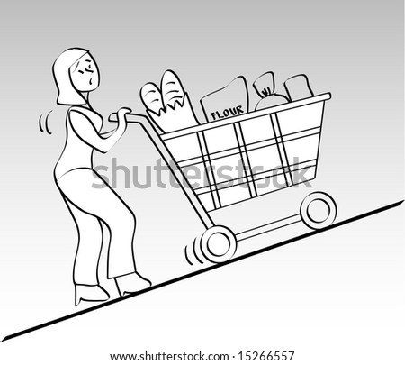 Vector, grocery items