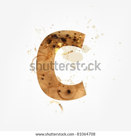 Vector Grunge Alphabet, C - stock vector