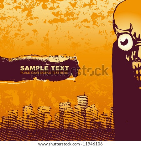 vector grunge background. for CD cover - stock vector