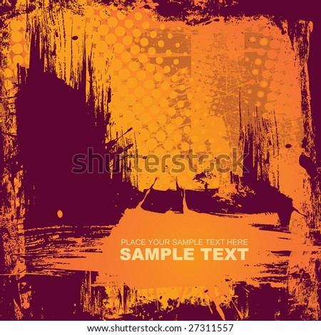vector grunge background with banner. vector illustration