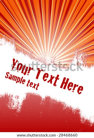 Vector grunge background with copy space for your text - stock vector
