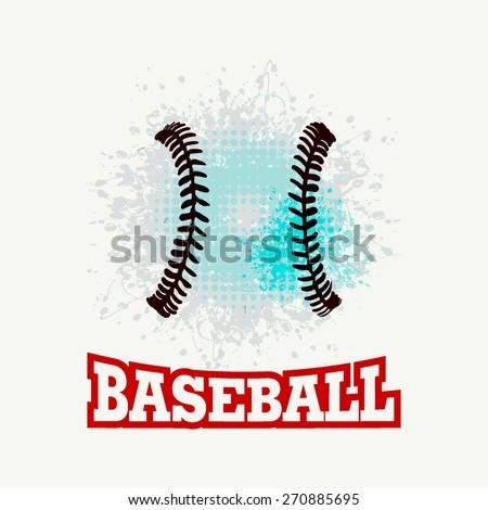 Vector grunge baseball ( T-shirt, Poster, Banner, backdrops design )  - stock vector