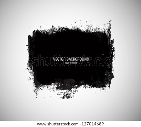 Vector grunge black paint abstract background - stock vector