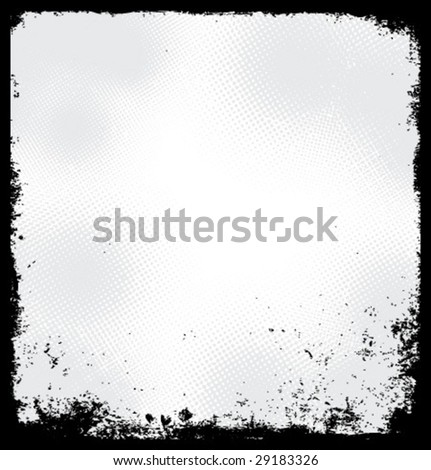 Vector grunge border - stock vector