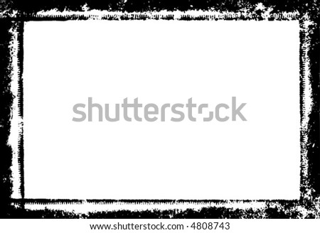 Vector grunge border or frame. - stock vector