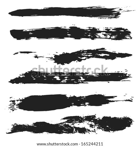 Vector Grunge Brushes Set 4