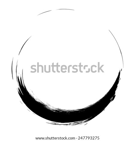 Vector Grunge Brushes Stroke . Spiral Logo Design