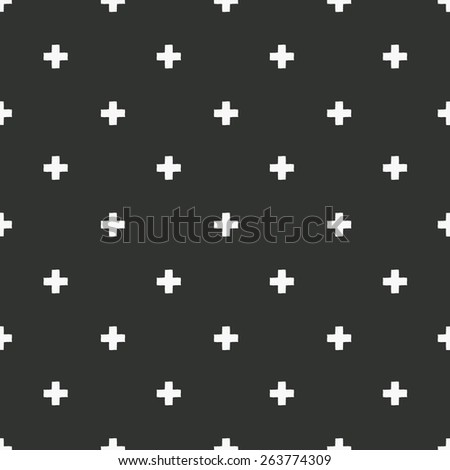 vector grunge cross pattern - stock vector