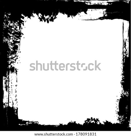 Vector grunge frame with white space. - stock vector