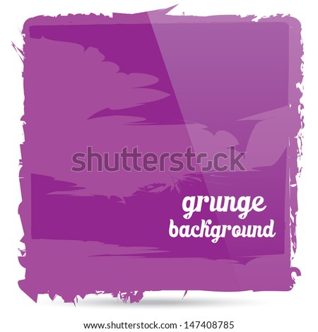 vector Grunge glossy violet banner. Abstract violet background . Hand drawn. - stock vector
