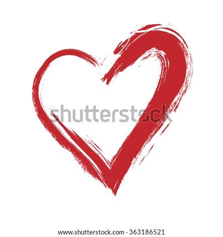 vector grunge heart valentine day illustration stock vector rh shutterstock com heart grunge grunge heart vector free