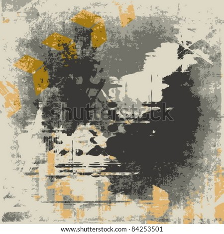 Vector grunge illustration, abstract color background - stock vector