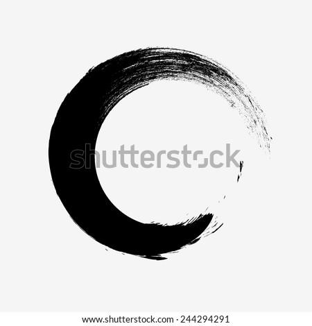 Vector Grunge Logo Design Template . Spiral Shape Cycle Creative Symbols . Wave Icon . Spiral Brush Stroke Elements . Swirls . Round Shape  - stock vector