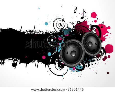 Vector grunge music abstract background