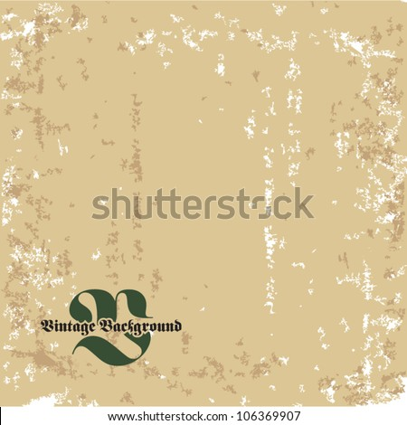 Vector grunge old retro vintage background