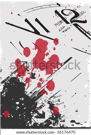 Vector grunge poster - stock vector