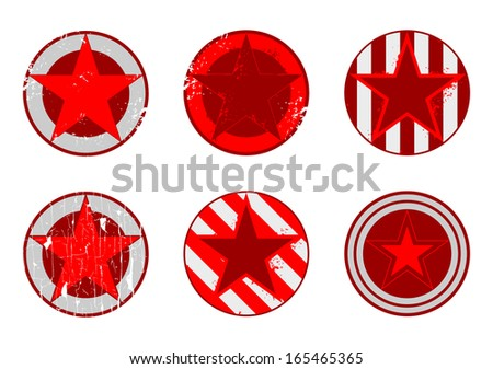 Vector grunge stars set - stock vector