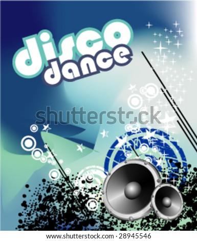 VECTOR Grunge Style Dirty Colorful background for Music Event - stock vector