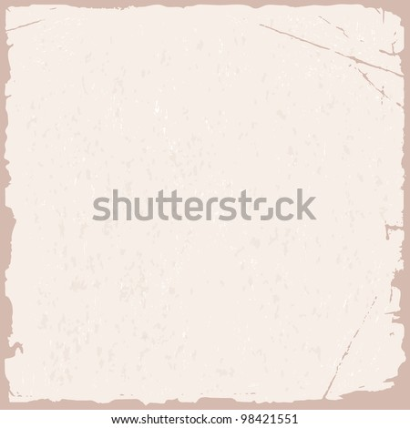 Vector grunge texture of pink old paper - stock vector