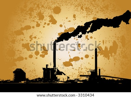 vector grunge urban industry design - stock vector