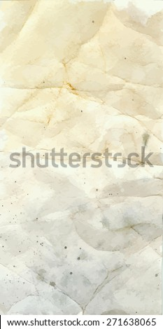 Vector grungy background of crumpled paper - stock vector