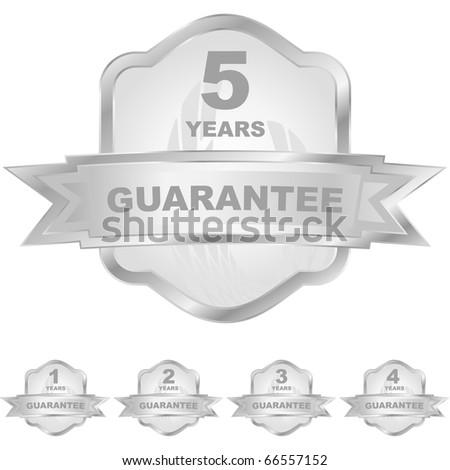 Vector guarantee labels. - stock vector