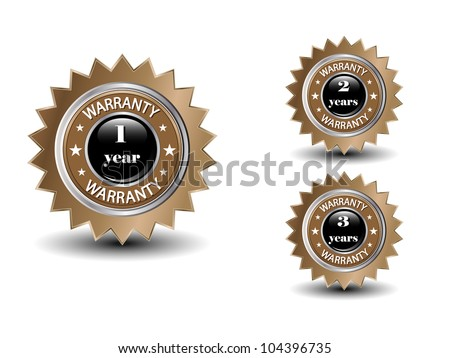 Vector guarantee sign.EPS10 - stock vector