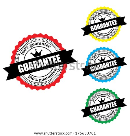 Vector guarantee stamp and label.