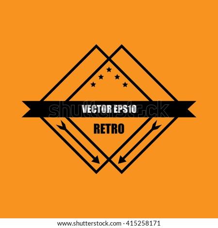 vector guarantee Tag label retro vintage style - stock vector