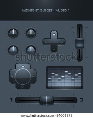 Vector GUI Set - Audio 2 - stock vector