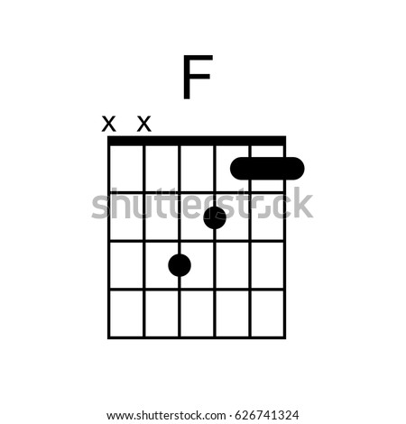 Vector Guitar Chord F Chord Diagram Stock Vector (Royalty Free ...