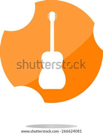 vector Guitar - icon button isolated