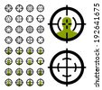 vector gun crosshair sight symbols - stock vector