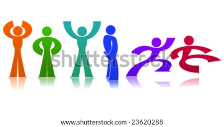 Vector Guy in Action - stock vector