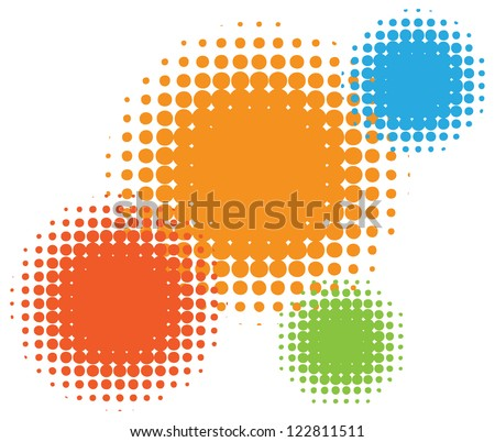 Vector half tone circles - stock vector