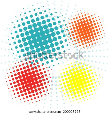 Vector half tone circles.Vector illustrator EPS 10 - stock vector