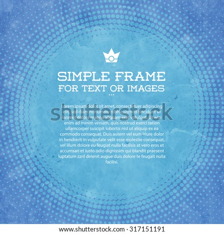 Vector halftone background - stock vector