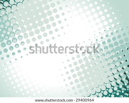 Vector halftone design with space for text - stock vector