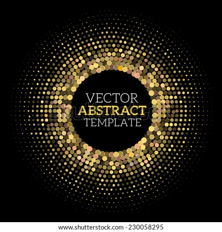 Vector Halftone Disco Style Abstract Background - stock vector