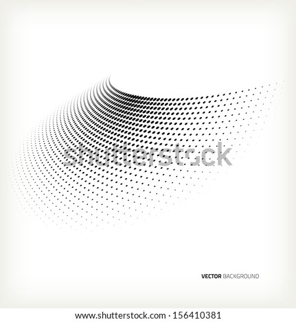 Vector halftone dots. - stock vector