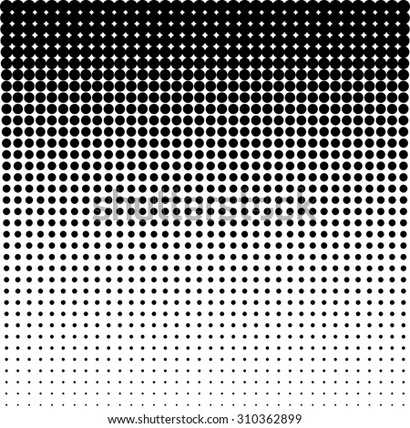 Vector halftone dots - Black