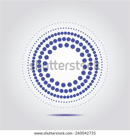 vector Halftone dots circle on a white background - stock vector
