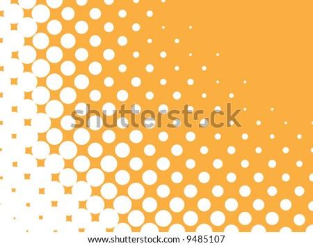Vector halftone pattern - stock vector