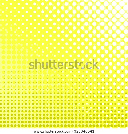 Set Of Yellow Dots Dotted Effect Comic Book Background