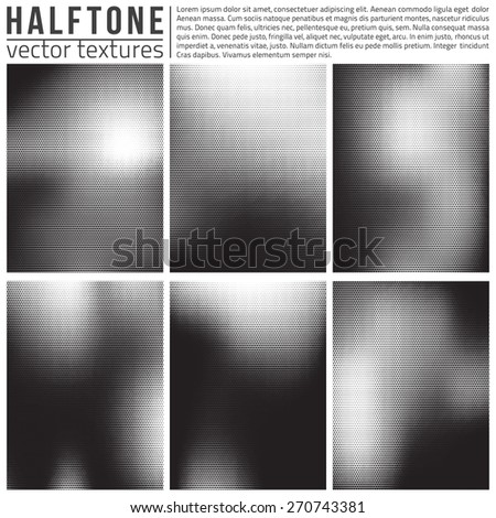 Vector halftone textures set. Analog halftone structure. Overlay vector abstract textures. Abstract vector background. Halftone vector structure.  - stock vector